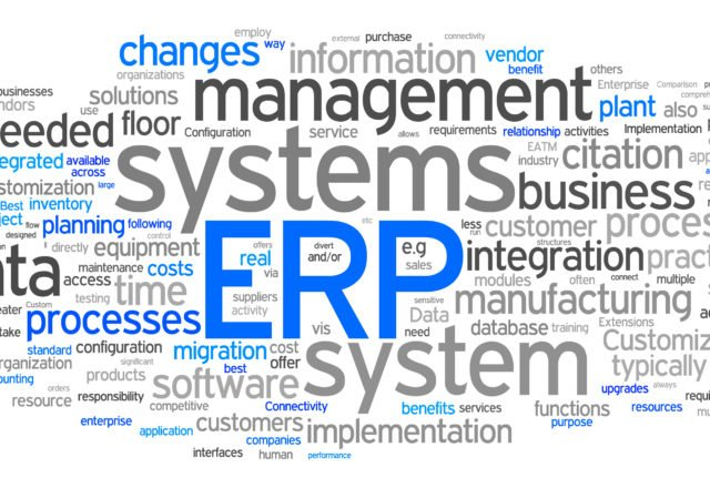 word composition of the concept ERP (Enterprise resource planning)